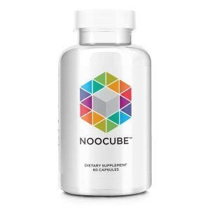 close up of bottle of NooCube dietary supplement