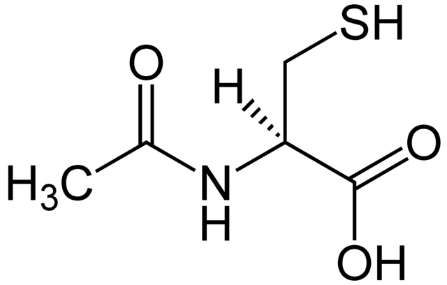 N-Acetylcysteine Structural Formula