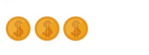 3 dolars