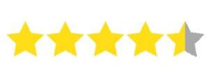 four and half stars graphic