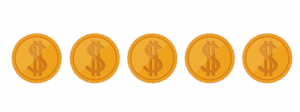 5 dolars