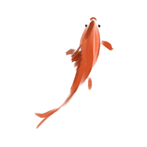 beautiful goldfish ink goldfish illustration