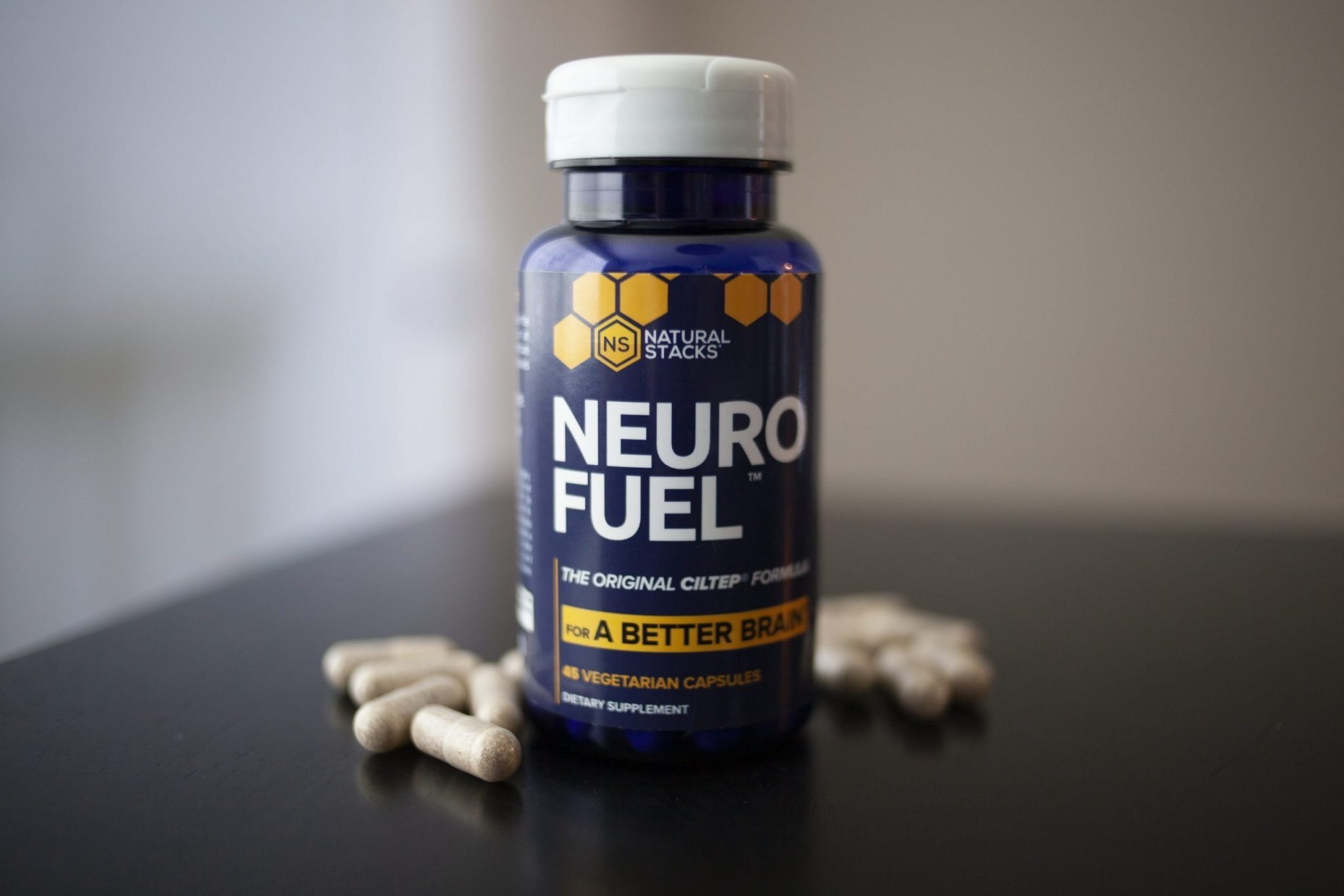 bottle and capsules of NEUROFUEL supplement