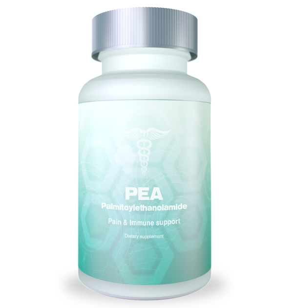 bootle of PEA supplement