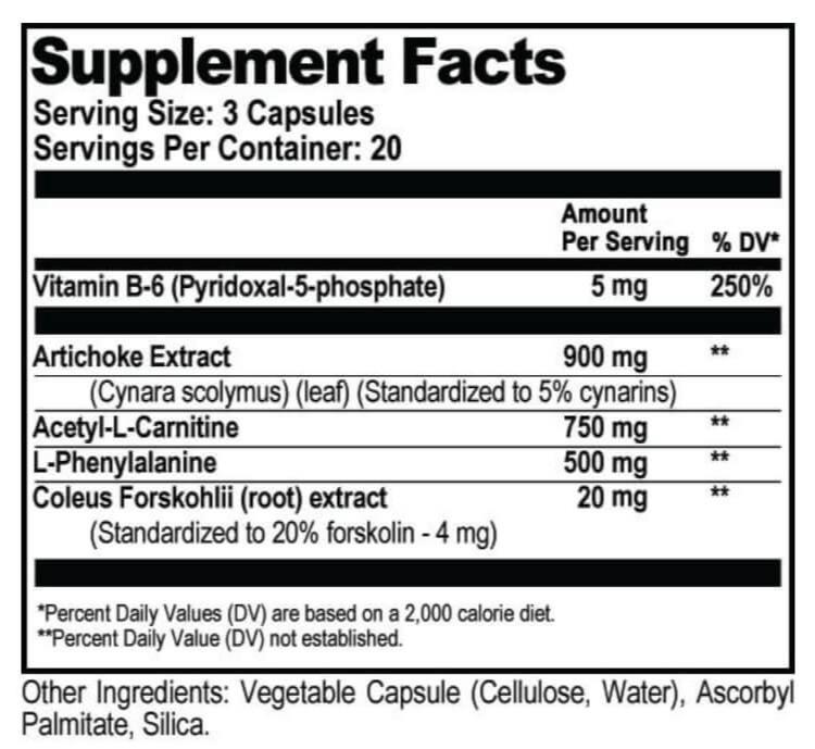 CILTEP supplement label 1
