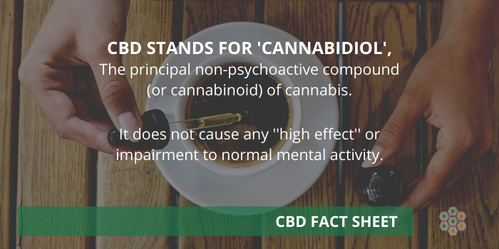 CBD is one of the 120 phytocannabinoids discovered in the cannabis species (Sativa and Indica).