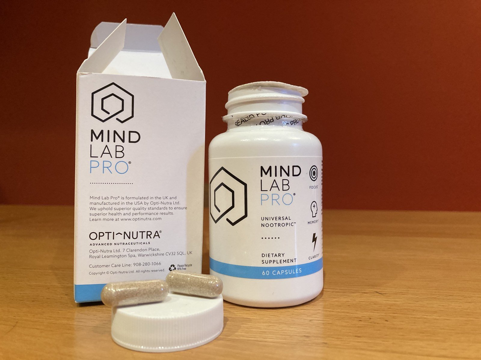 Mind Lab Pro package on the table Mind Lab Pro review