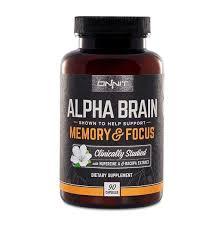 bottle of Alpha_Brain supplement