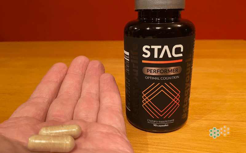 Bottle of STAQ Performer; my experience