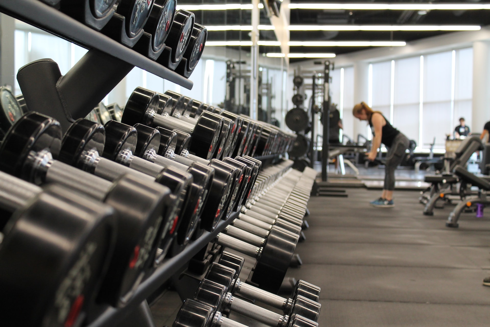 Picture of weights in the gym