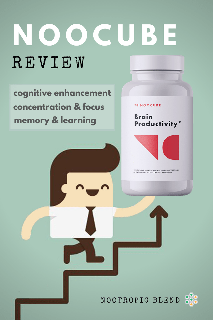 Graphic man handling NooCube review nootropic
