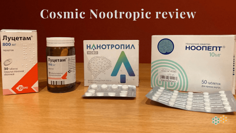 Picture of three CosmicNootropic store products