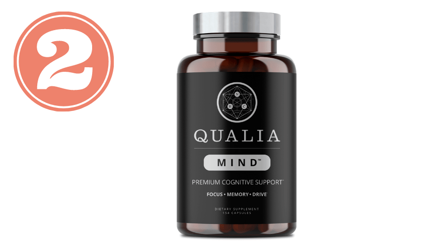 Picture of Qualia Mind bottle for best nootropic stack review