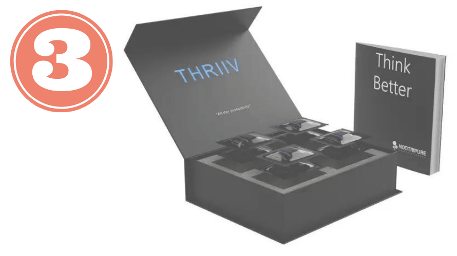 Picture of THRIIV package for best nootropic stack review