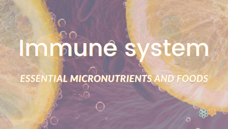 Picture of lemon in water; immune system vitamins