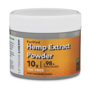 Picture of bottle of hemp extract powder