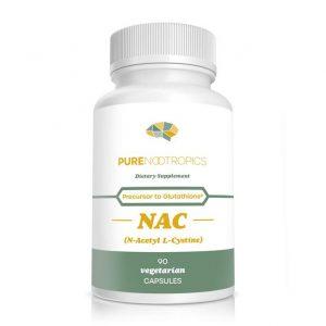Bottle of NAC supplement