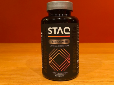 bottle of STAQ Performer supplement