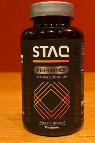 bottle of STAQ Performer supplement